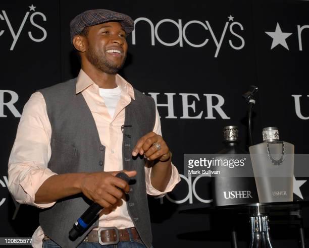 Singer Usher at the Usher fragrance launch held at Macy's Lakewood on November 16 2007 in Lakewood California