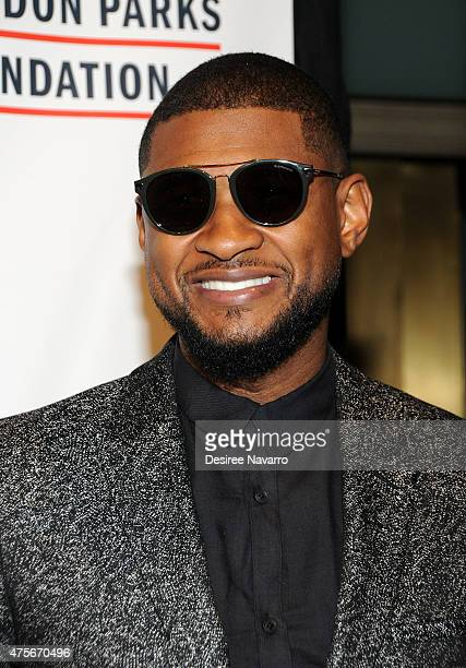 Singer Usher attends 2015 Gordon Parks Foundation Awards Dinner and Auction at Cipriani Wall Street on June 2 2015 in New York City
