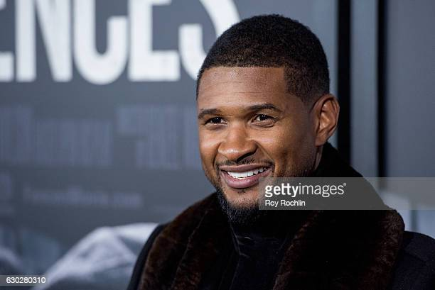 Singer Usher attends 'Fences' New York Screening at Rose Theater Jazz at Lincoln Center on December 19 2016 in New York City
