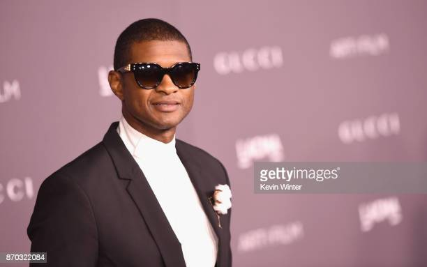 Singer Usher attends the 2017 LACMA Art + Film Gala Honoring Mark Bradford And George Lucas at LACMA on November 4, 2017 in Los Angeles, California.