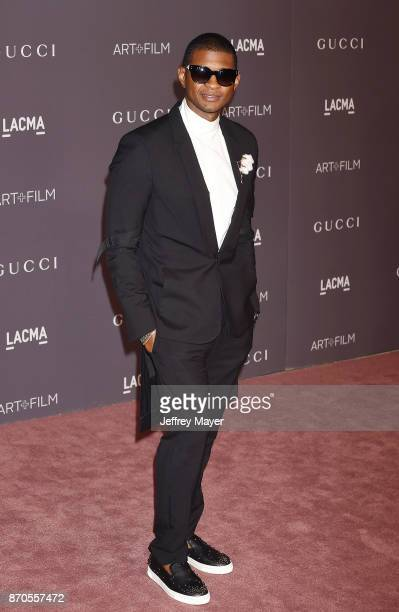 Singer Usher attends the 2017 LACMA Art Film Gala Honoring Mark Bradford and George Lucas presented by Gucci at LACMA on November 4 2017 in Los...