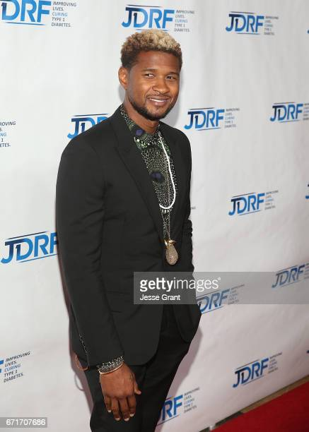 Singer Usher attends the JDRF LA Chapter's Imagine Gala held at The Beverly Hilton Hotel on April 22 2017 in Beverly Hills California