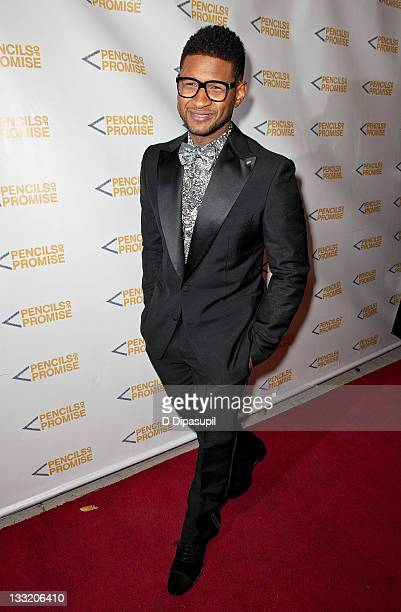 Singer Usher attends the Pencils of Promise 2011 charity gala at Espace on November 17 2011 in New York City
