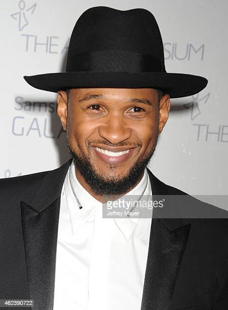Singer Usher attends the The Art Of Elysium 8th Annual Heaven Gala at Hangar 8 on January 10 2015 in Santa Monica California