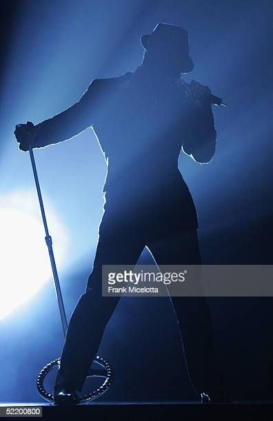 Singer Usher performs on stage during the 47th Annual Grammy Awards at the Staples Center February 13 2005 in Los Angeles California