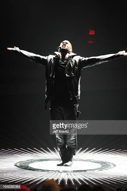 Singer Usher performs onstage at the 2010 MTV Video Music Awards held at Nokia Theatre LA Live on September 12 2010 in Los Angeles California