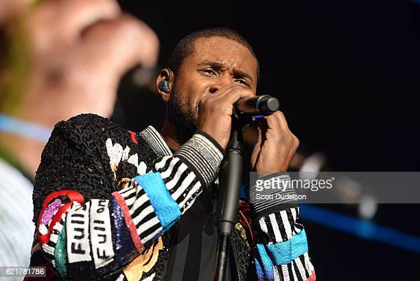 Singer Usher performs onstage during the 92.3 Real Show at The Forum on November 5, 2016 in Inglewood, California.