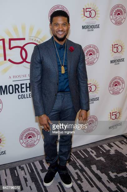 Singer Usher Raymond attends the Morehouse College 29th annual student scholarship event at the Hyatt Regency Atlanta on February 18 2017 in Atlanta...