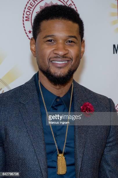 Singer Usher Raymond attends the Morehouse College 29th annual student scholarship event at the Hyatt Regency Atlanta on February 18, 2017 in...