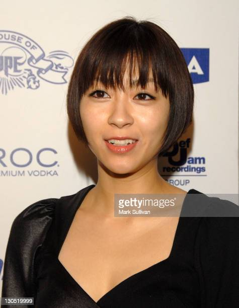 Singer Utada arrives at the House Of Hype Island Def Jam Grammy Party at Wolfgang's Steakhouse on February 8, 2009 in Beverly Hills, California.