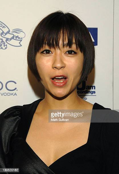 Singer Utada arrives at the House Of Hype Island Def Jam Grammy Party at Wolfgang's Steakhouse on February 8 2009 in Beverly Hills California