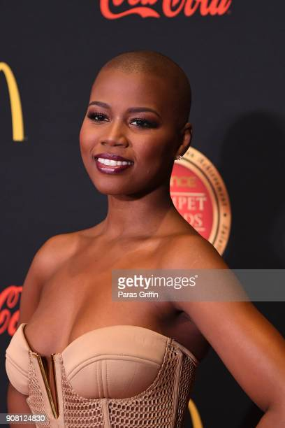 Singer V Bozeman attends the 26th Annual Trumpet Awards at Cobb Energy Performing Arts Center on January 20 2018 in Atlanta Georgia
