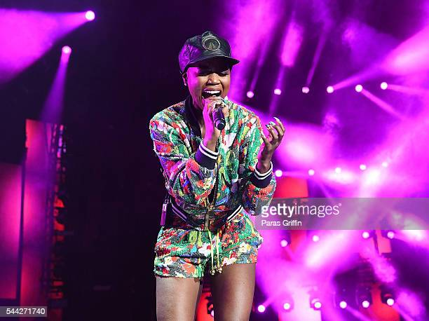Singer V Bozeman performs onstage at 2016 Essence Festival at Louisiana Superdome on July 1 2016 in New Orleans Louisiana