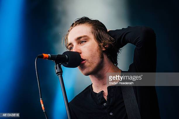 Singer Van McCann of Catfish And The Bottlemen performs live on stage during day 3 of Melt Festival on July 19 2015 in Graefenhainichen Germany