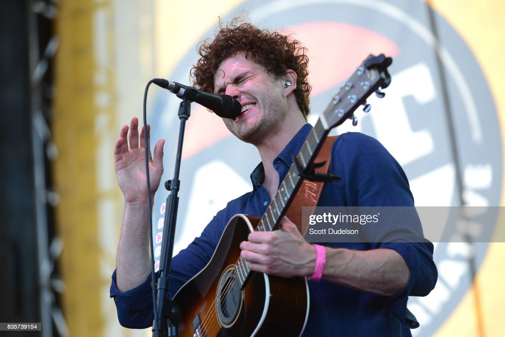 Singer Vance Joy performs onstage during the Alt 98.7 Summer Camp concert at Queen Mary Events Park on August 19, 2017 in Long Beach, California.