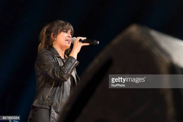 Singer Vanesa Martin performs at the 'La Noche de Cadena 100' gala at Wizink Center on March 25 2017 in Madrid Spain