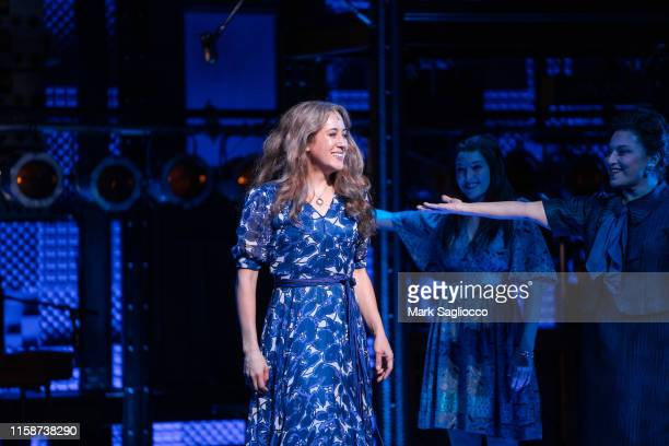 Singer Vanessa Carlton is seen during the curtain call for her debut in Beautiful The Carol King Musical at Stephen Sondheim Theatre on June 27 2019...