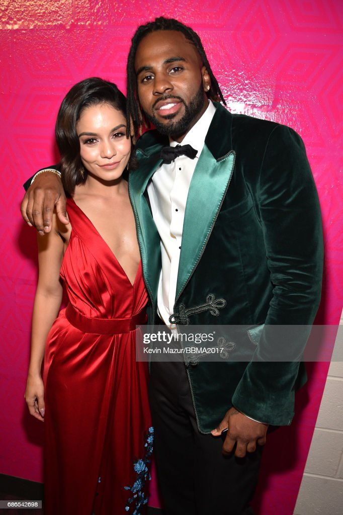 Singer Vanessa Hudgens (L) and recording artist Jason Derulo attend the 2017 Billboard Music Awards at T-Mobile Arena on May 21, 2017 in Las Vegas, Nevada.