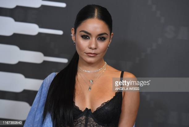 US singer Vanessa Hudgens arrives for the Savage X Fenty Show Presented By Amazon Prime Video at Barclays Center on September 10 2019 in Brooklyn New...