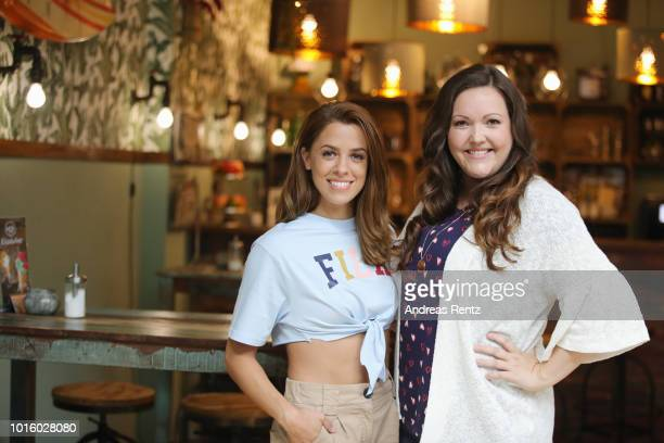 Singer Vanessa Mai and actress Sarah Victoria Schalow pose for a photograph during a photo call for the new tv series 'Freundinnen Jetzt erst recht'...