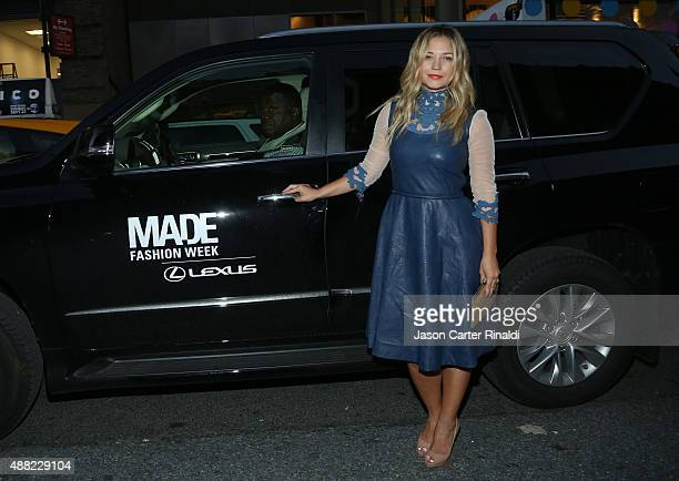Singer Vanessa Ray attends Lexus arrivals at Skylight at Moynihan Station during New York Fashion Week The Shows on September 14 2015 in New York City
