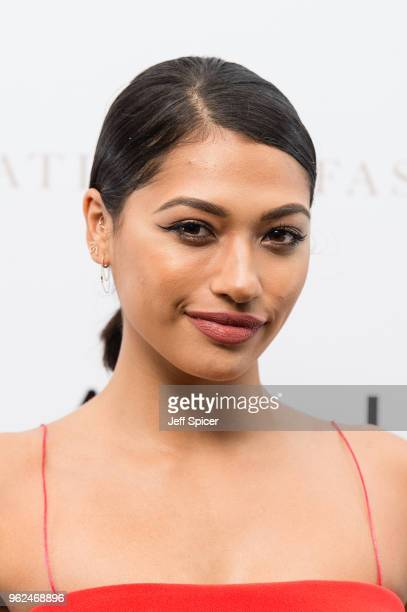 Singer Vanessa White attends the inaugural International Fashion Show at Rosewood Hotel on May 25 2018 in London England