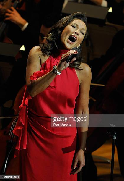 """Singer Vanessa Williams performs at 29th Annual """"A Company Christmas At Pops"""" on December 12, 2012 in Boston, Massachusetts."""