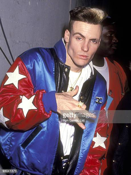 Singer Vanilla Ice attends the 18th Annual American Music Awards on January 28 1991 at Shrine Auditorium in Los Angeles California