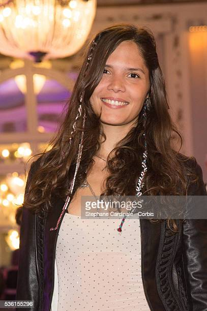 Singer Vanille Clerc attends the Opening Dinner of the 29th Cabourg Romantic Film Festival on June 11 2015 in Cabourg France