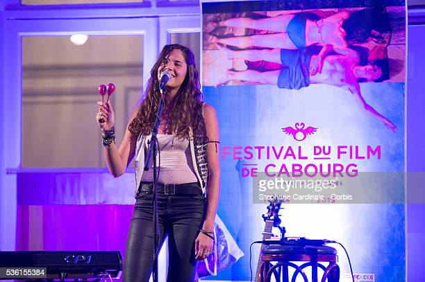 Singer Vanille Clerc performs during the Opening Dinner of the 29th Cabourg Romantic Film Festival on June 11 2015 in Cabourg France