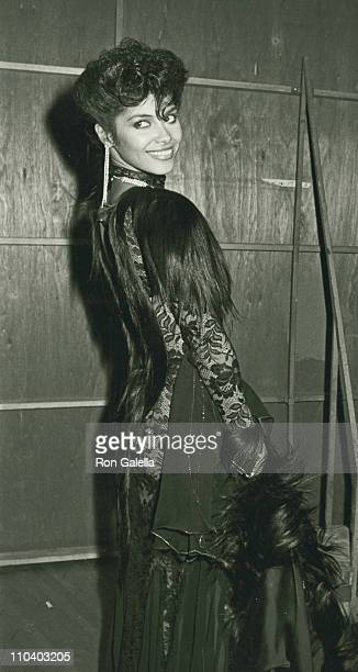 Singer Vanity attend 12th Annual American Music Awards on January 28 1985 at the Shrine Auditorium in Los Angeles California
