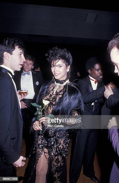 Singer Vanity attends 12th Annual American Music Awards on January 28 1985 at the Shrine Auditorium in Los Angeles California