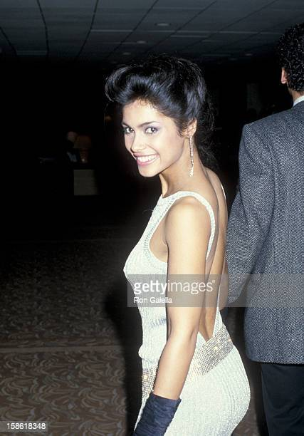 Singer Vanity attends NARM on March 10 1986 at the Century Plaza Hotel in Century City California