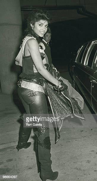 Singer Vanity attends Second Annual Stuntmen Awards on March 22 1986 at KTLA TV Studios in Los Angeles California