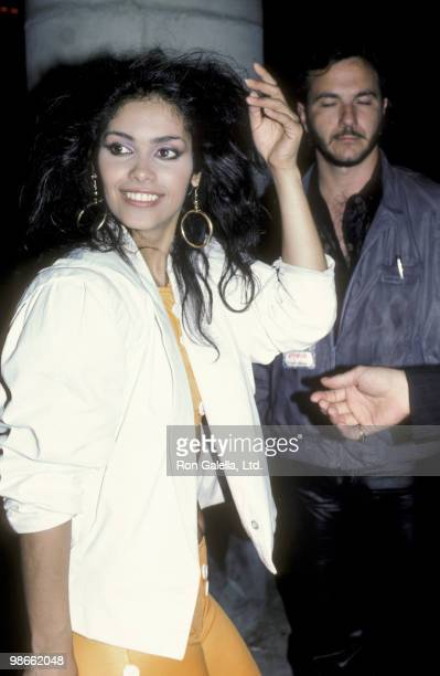 Singer Vanity attends the party for Prince on May 30 1986 at Tramp's in Beverly Hills California
