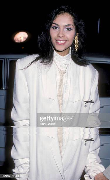 Singer Vanity attends the premiere of 'A Fine Mess' on March 19 1986 at the Comedy Store in West Hollywood California