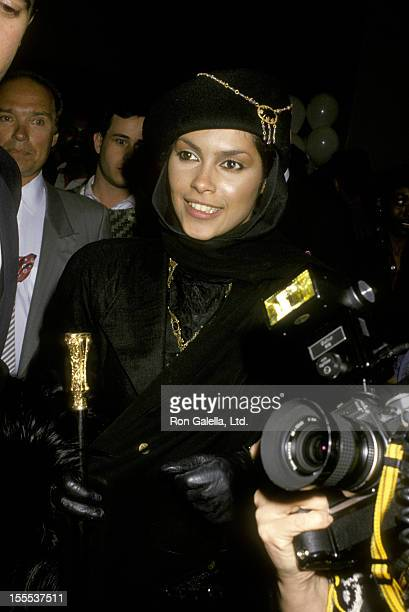 Singer Vanity attends the premiere of Action Jackson on February 11 1988 at Mann Village Theater in Westwood California