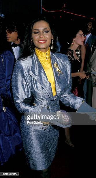 Singer Vanity attends the premiere of Coming To America on June 26 1988 at Mann Chinese Theater in Hollywood California