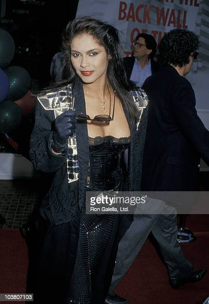 Singer Vanity attends the premiere of 'Die Hard' on July 12 1988 at the Acvo Theater in Westwood California