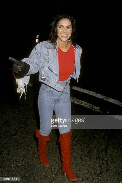 Singer Vanity attends Virgin Records Party on February 23 1990 at Pazzia Restaurant in Los Angeles California