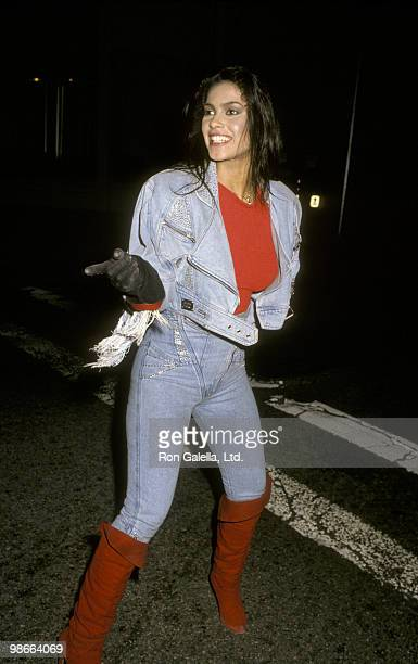 Singer Vanity attends Virgin Records Party on February 23, 1990 at Pazzia Restaurant in Los Angeles, California.