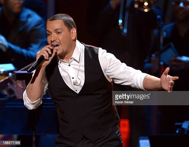 Singer Víctor Manuelle performs onstage during the 13th annual Latin GRAMMY Awards held at the Mandalay Bay Events Center on November 15 2012 in Las...