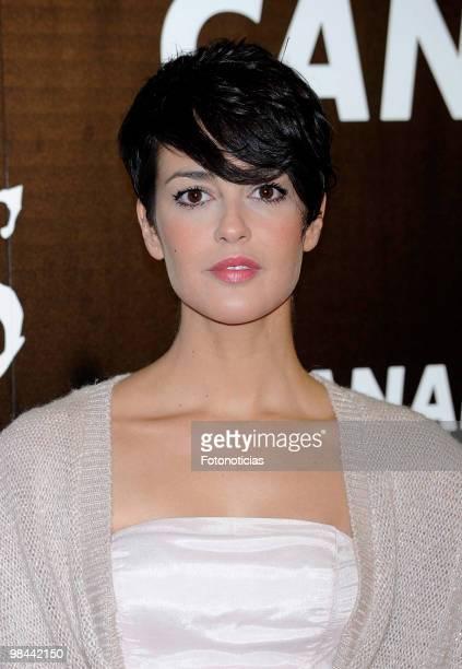 Singer Vega attends 'Alicia en el Pais de las Maravillas' premiere at Proyecciones Cinema on April 13 2010 in Madrid Spain