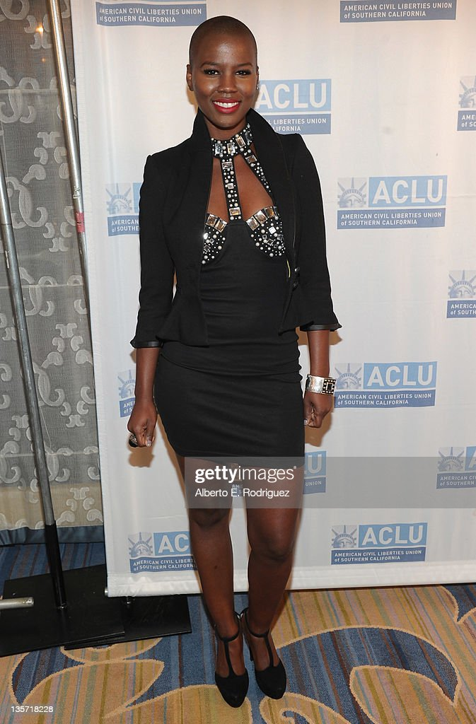 Singer Veronika (V.) Bozeman attends The ACLU of Southern California's 2011 Bill of Rights Dinner at the Beverly Wilshire Four Seasons Hotel on December 12, 2011 in Beverly Hills, California.