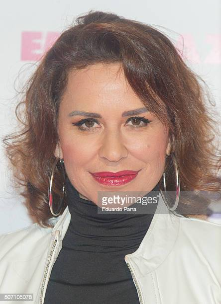 Singer Vicky Larraz attends 'Embarazados' premiere at Capitol cinema on January 27 2016 in Madrid Spain