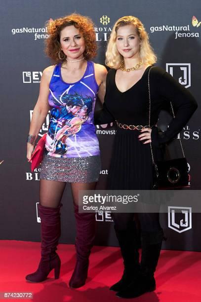Singer Vicky Larraz attends 'La Liga de La Justicia' premiere at the Kinepolis cinema on November 14 2017 in Madrid Spain