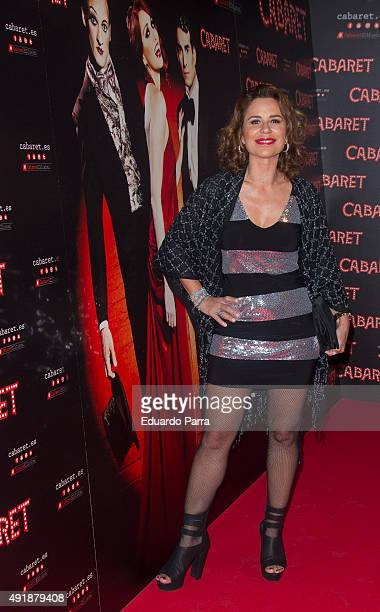 Singer Vicky Larraz attends the'Cabaret Broadway Musical' photocall at Rialto theatre on October 8 2015 in Madrid Spain