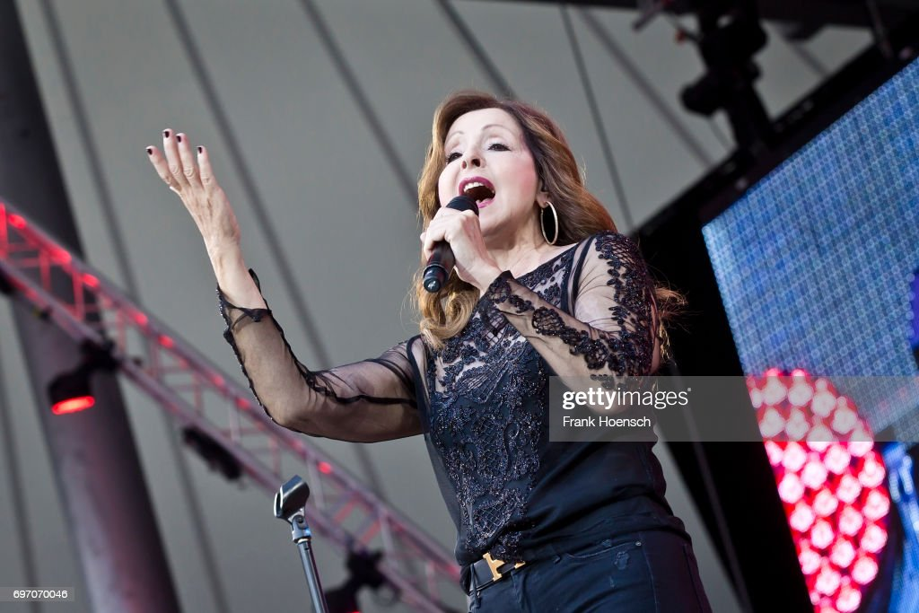 Singer Vicky Leandros performs live during the show 'Die Schlagernacht des Jahres' at the Waldbuehne on June 17, 2017 in Berlin, Germany.