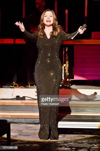 Singer Vicky Leandros performs live on stage during a concert at the KaiserWilhelmGedaechtniskirche on December 17 2018 in Berlin Germany