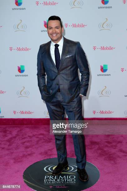 Singer Victor Manuelle attends Univision's 29th Edition of Premio Lo Nuestro A La Musica Latina at the American Airlines Arena on February 23 2017 in...